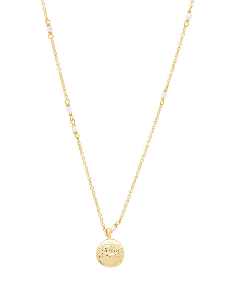 gorjana Reese Pearl Charm Necklace