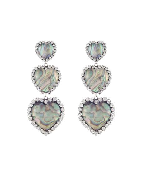 Dannijo Tate 3-Heart Earrings