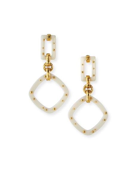 Gas Bijoux Escale Drop Earrings, White