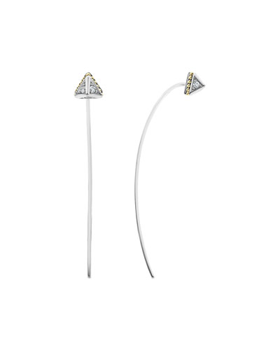 KSL 2-Tone Pyramid Drop Earrings, 2