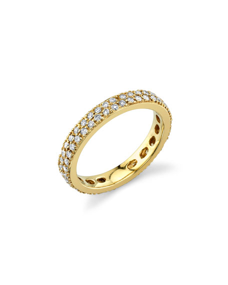 Sydney Evan 14k Yellow Gold Diamond Eternity Band, Size 6.5