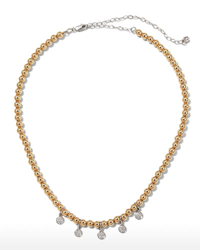 Baby Disc Pave Choker Necklace