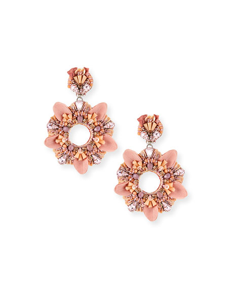 Ranjana Khan Amada Beaded Open Clip Earrings