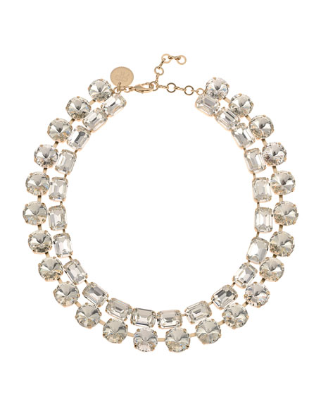 Rebekah Price Anna-Bella Crystal 2-Row Necklace, Clear