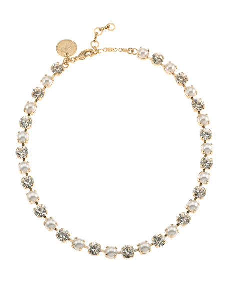 Rebekah Price Audrey Crystal Necklace, Pearly
