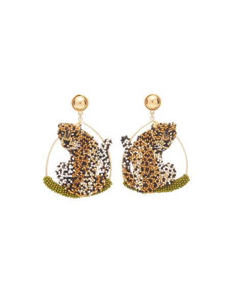 Mignonne Gavigan Leopard Swing Earrings