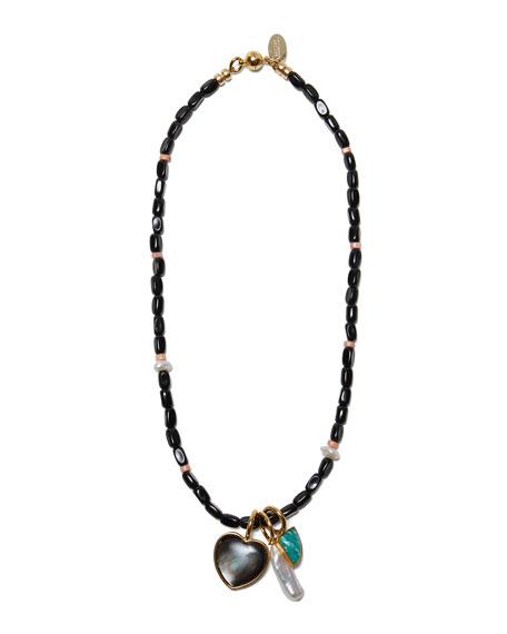 Lizzie Fortunato Catalina Necklace in Black Agate