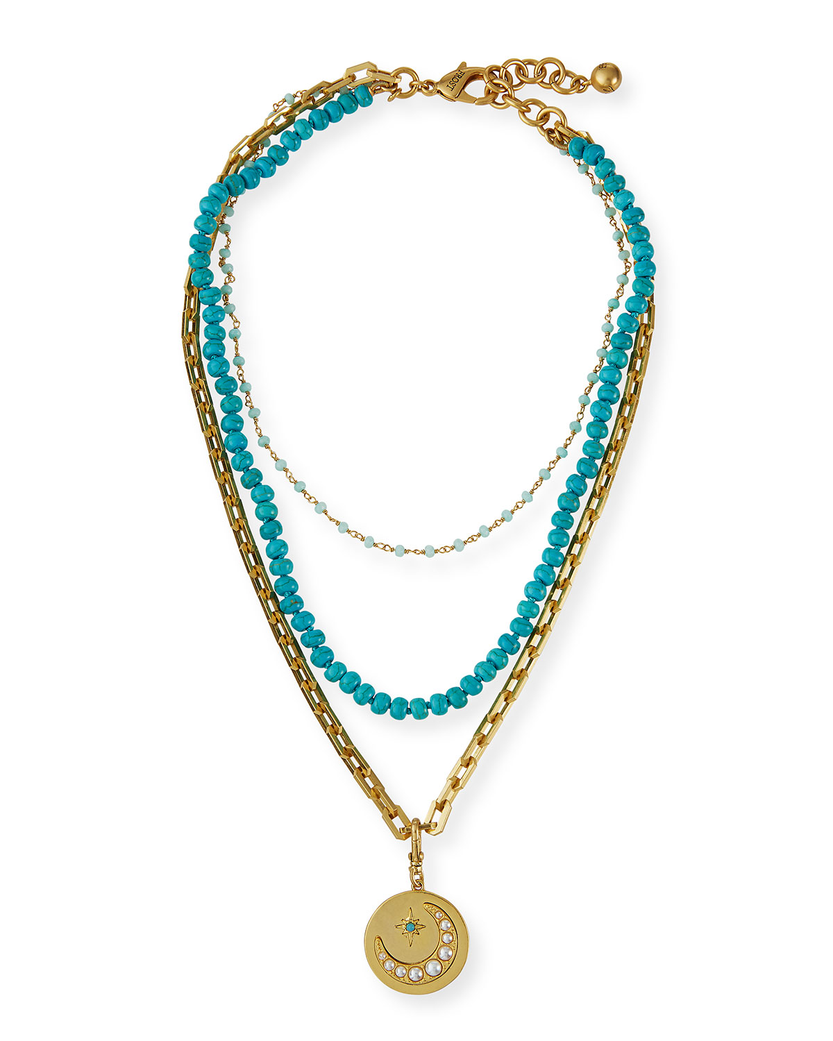 Under a Turquoise Moon Beaded Necklace