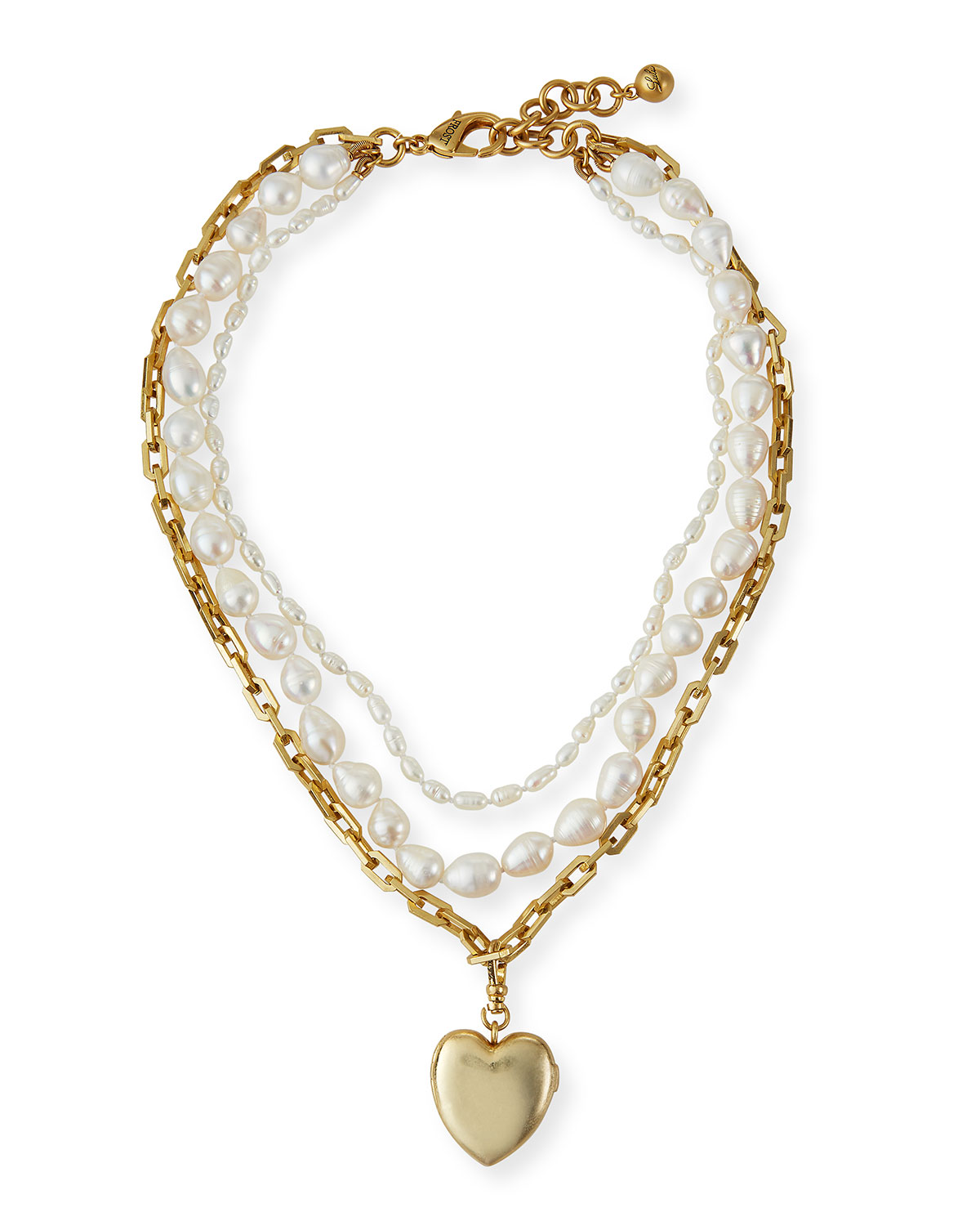Love of Pearl Heart Locket Necklace