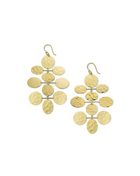 Ippolita Classico Crinkle Hammered Mobile Cascade Earrings in 18K Gold