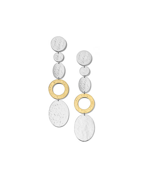 Ippolita Classico Mix-Shaped Disc Linear Earrings in Chimera Two-Tone