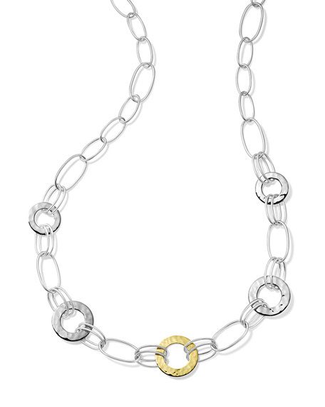 Ippolita Classico Mixed Wire and Hammered Disc Necklace in Chimera Two-Tone