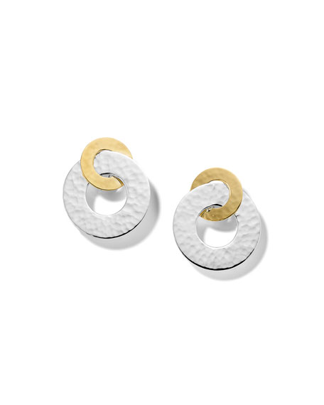 Ippolita Classico Interlocking Open Disc Earrings in Chimera Two-Tone