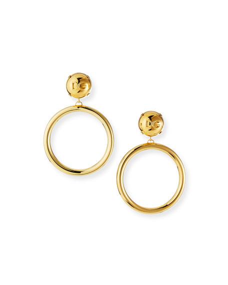 Dolce & Gabbana Brass Hoop-Drop Earrings