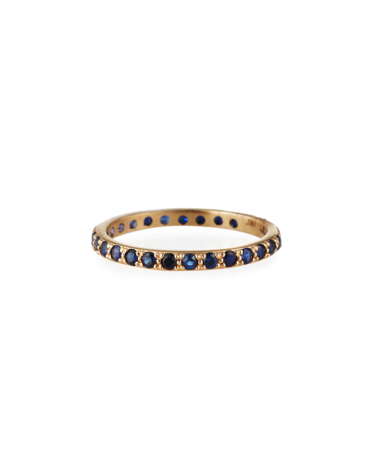 Armenta CUENTO 14K ROSE GOLD BLUE SAPPHIRE STACK BAND