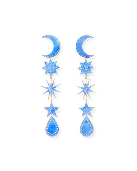 We Dream in Colour Twilight Hour Earrings, Blue