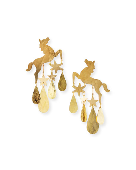 We Dream in Colour Epona Earrings, Gold