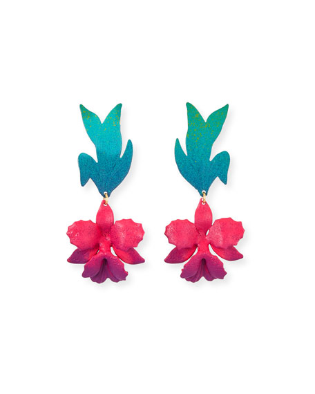 We Dream in Colour Laelia Earrings, Pink/Blue
