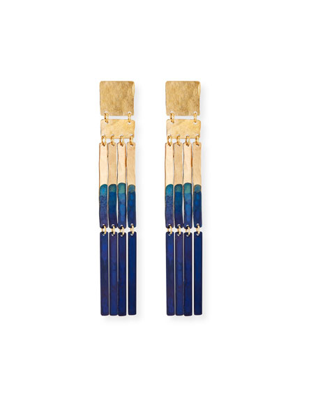 We Dream in Colour Padme Earrings, Navy Blue