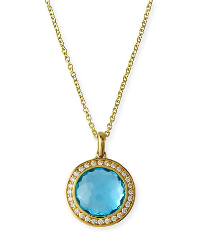 18k Gold Rock Candy Mini Lollipop Diamond Necklace