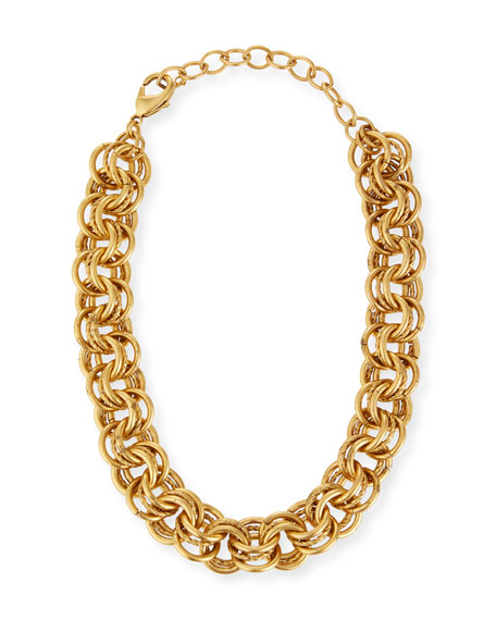 Elizabeth Cole Adler Multilink Necklace