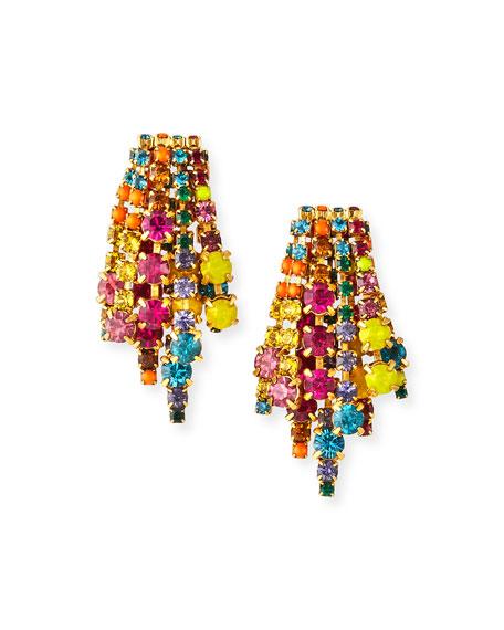 Elizabeth Cole Bette Crystal Earrings, Multi