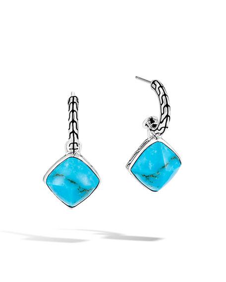 John Hardy Classic Chain Turquoise-Drop Earrings