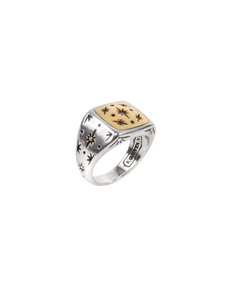 Konstantino Astria Wander Star Ring, Size 6-8