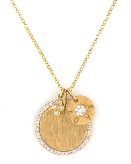Jude Frances Provence 18K Yellow Gold Diamond 3-Charm Necklace