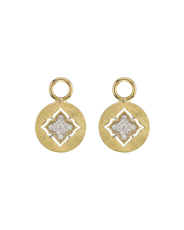 Moroccan 18K Diamond Disc Earring Charms