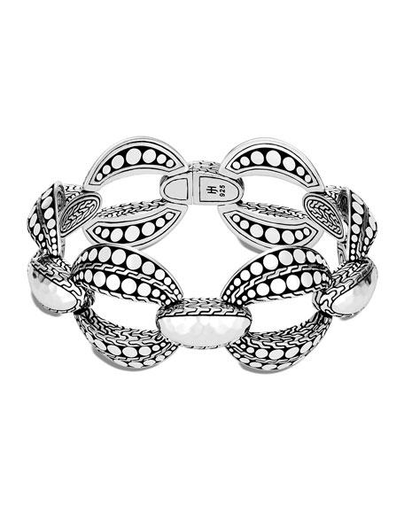 John Hardy Dot Hammered Link Bracelet, Size S/M and M/L