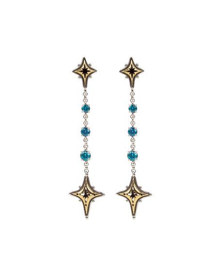 Konstantino Blue Spinel Star Dangle Earrings