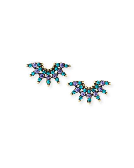 Auden Elsa Crystal Clip Earrings