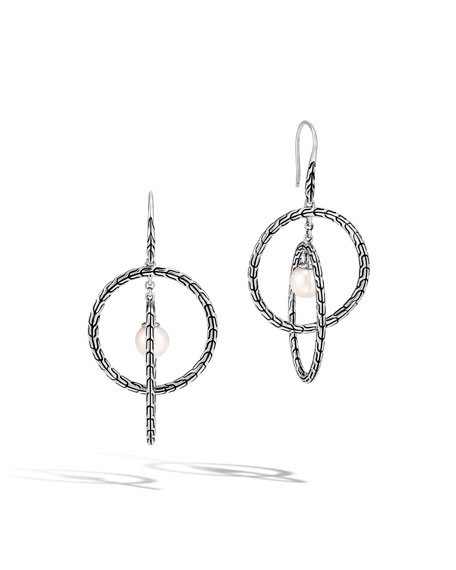 John Hardy Classic Chain Pearl and Multi-Hoop Earrings