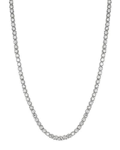 Classic Cubic Zirconia Tennis Necklace, 30tcw