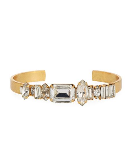 Elizabeth Cole Abner Crystal Cuff Bracelet