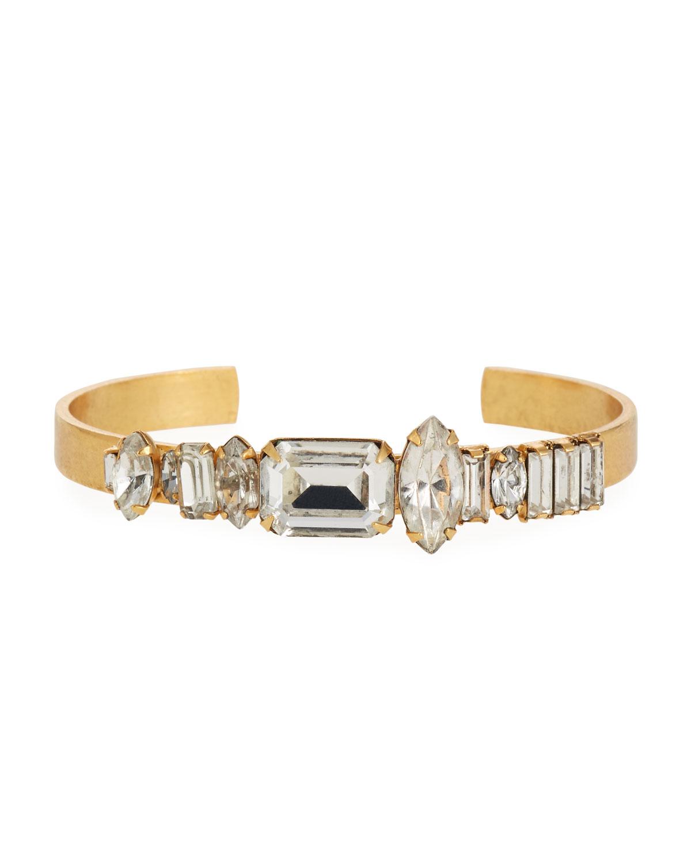 Abner Crystal Cuff Bracelet