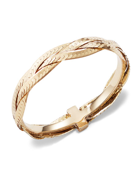 Lana Triple Braided Liquid 14K Gold Ring, Size 7