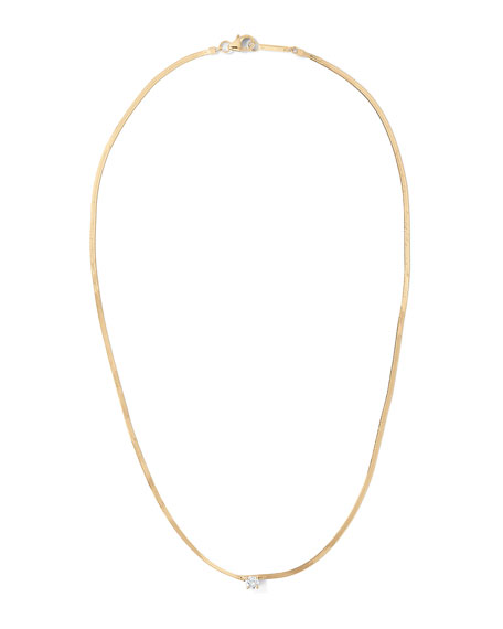 Lana 14k Solo Diamond Liquid Gold Necklace