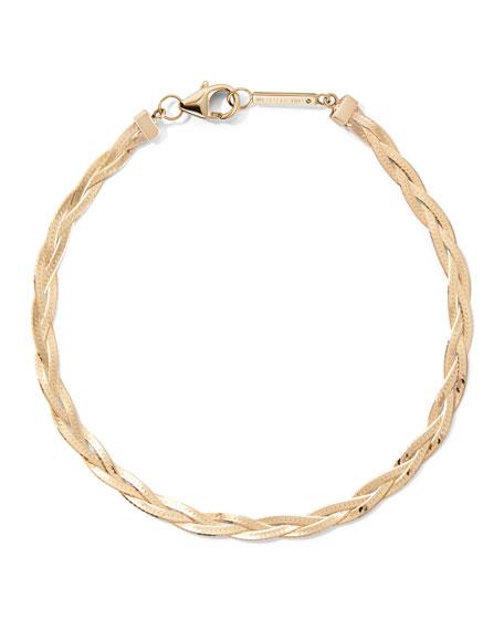 Lana 14k Braided Liquid Bracelet