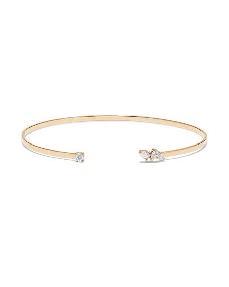 Lana Solo Multi-Pear and Round Diamond Echo Bracelet