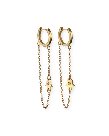 Jennifer Zeuner Vanna Huggie Earrings