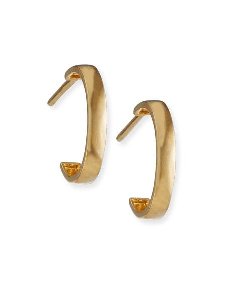 Tai Fine 13mm 14k Gold Hoop Earrings