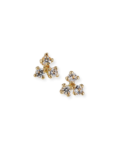 Tai Fine 14k Gold 3-Dot Stud Earrings