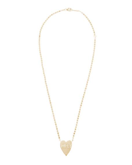 Lana 14k Wifey Heart Pendant Necklace