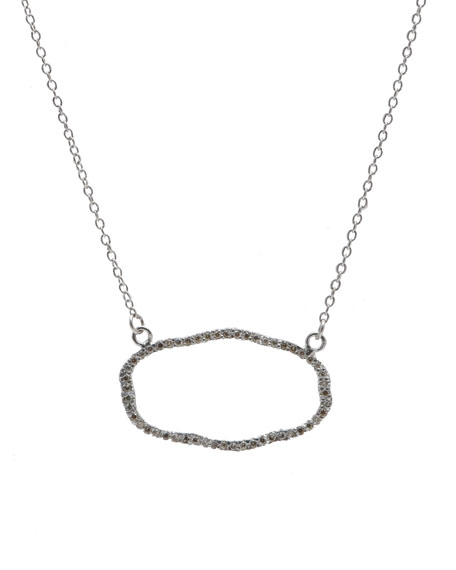 Armenta New World Open Pave Pendant Necklace