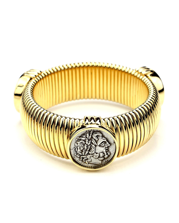 Roman Coin Elastic Bracelet