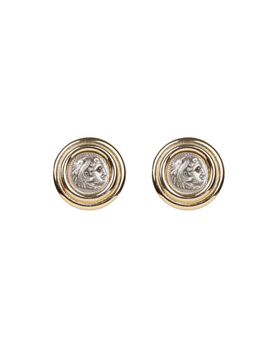 Roman Coin Clip Earrings