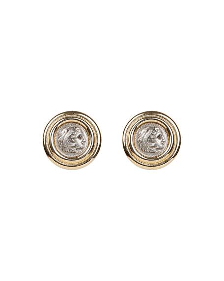 Ben-Amun Roman Coin Clip Earrings