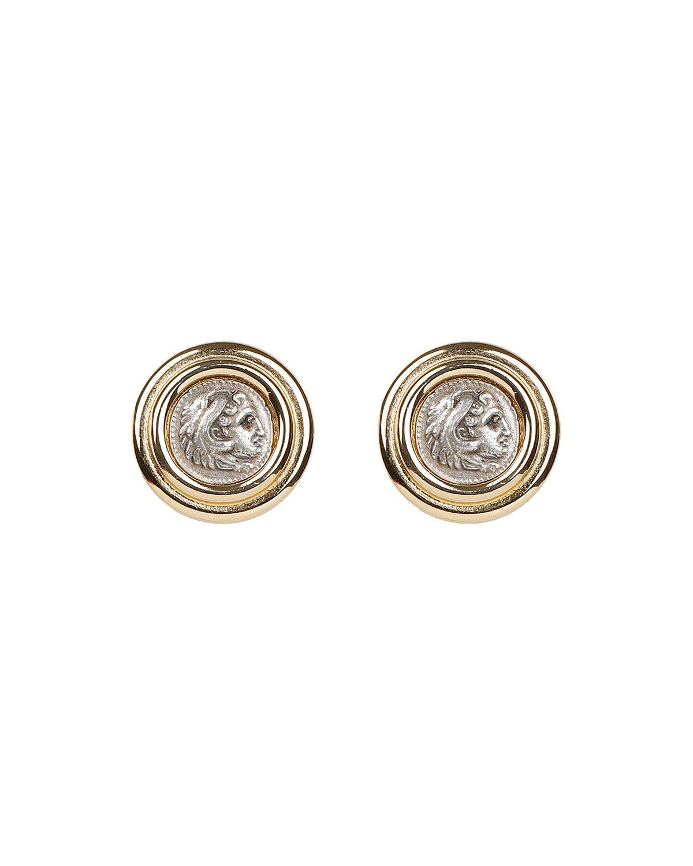 Roman Coin Clip Earrings